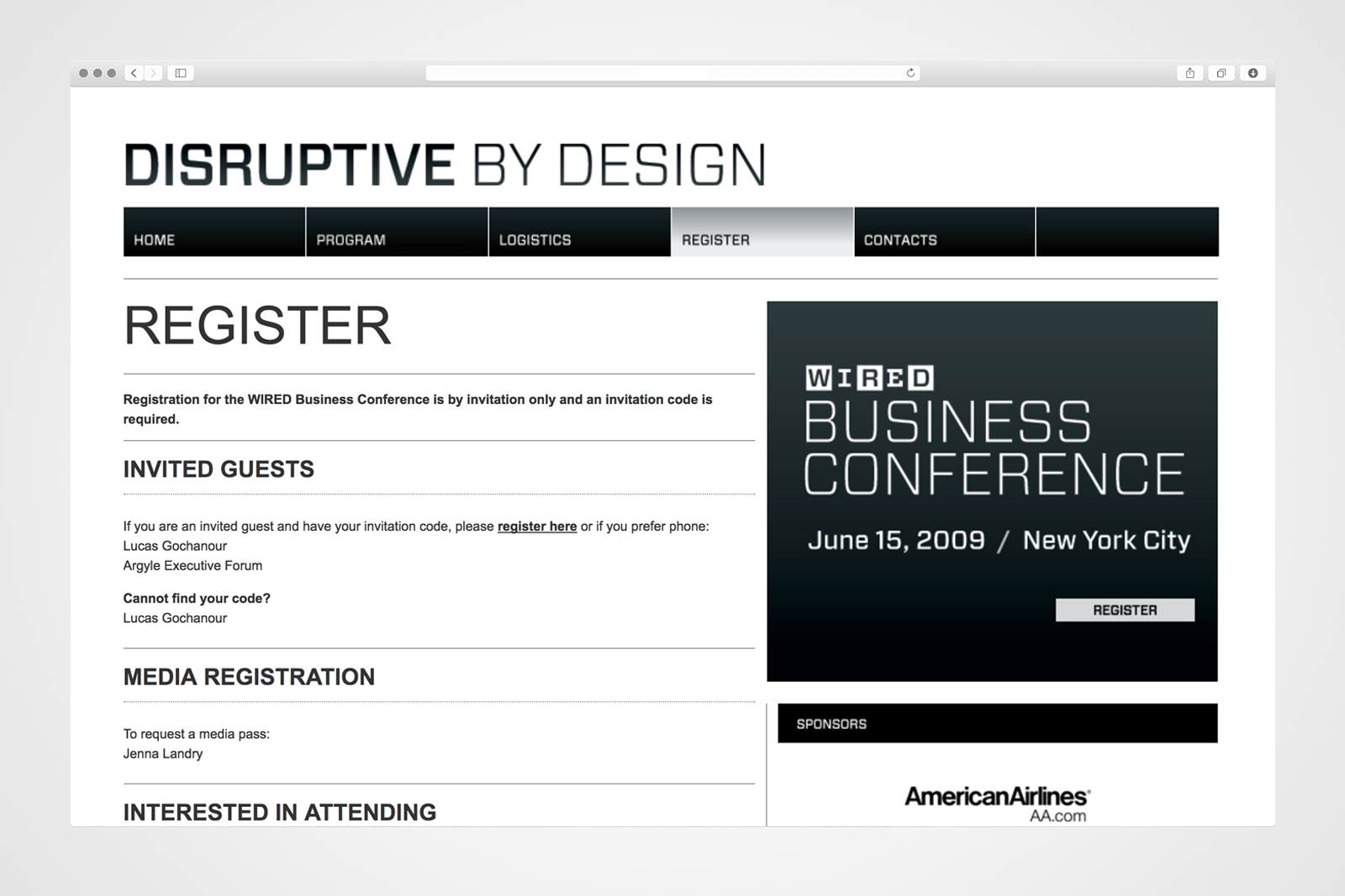 WIRED Disruptive by Design